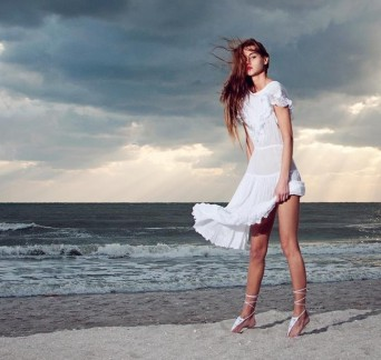This photo taken in Sanibel Island, Fla., appeared on a video billboard in Time Square as part of #seemetakeover Times Square.  PHOTO COURTESY LESA FEREZ PHOTOGRAPHY and FENTON MOON MODELING