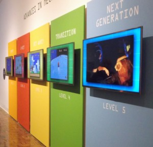 Most of the displays are on video screens and interactive. PHOTO/MATTHEW E. SEMRAU