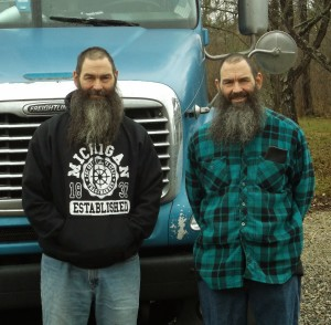 Identical twins Don and Dave Wolf have driven big rigs for a quarter of a century. PHOTO/MATTHEW E. SEMRAU