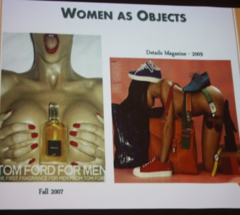 According to the Turning Point presenters, women are objectified when they are used as an object to sell something. PHOTO BY/FLORA IVEZAJ