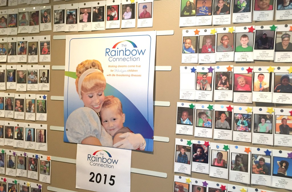The Wish Wall displays children who have been and who will be helped this year. PHOTO/LAUREN BARTHOLD