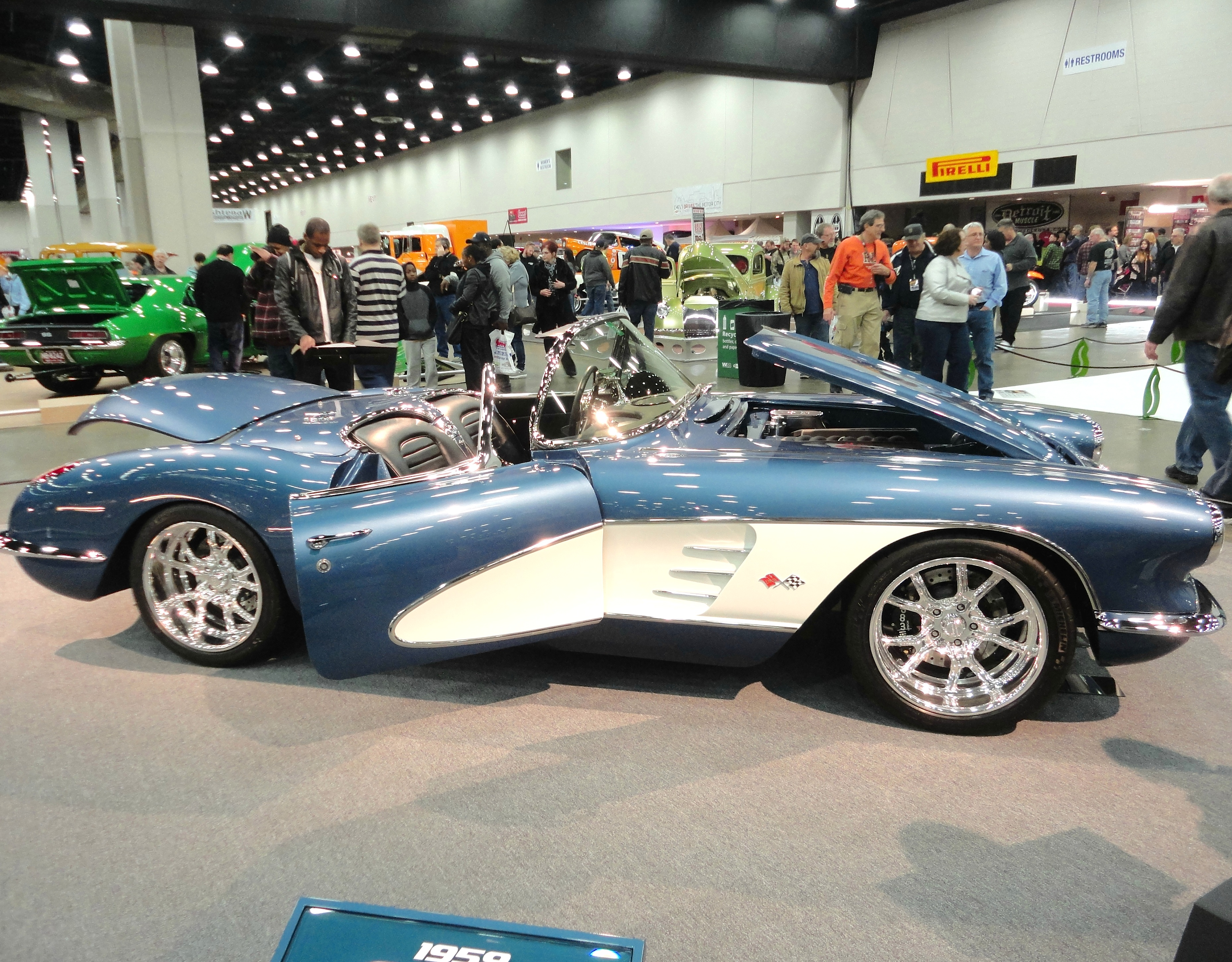 Thousands of visitors showed up for Autorama in Detroit in February to see modern cars, classics, hot rods and motorcycles. This 1959 Corvette was rebuilt and customized to run like new. It still holds the classic look of the original vehicle. PHOTO/CAITLIN RENTON