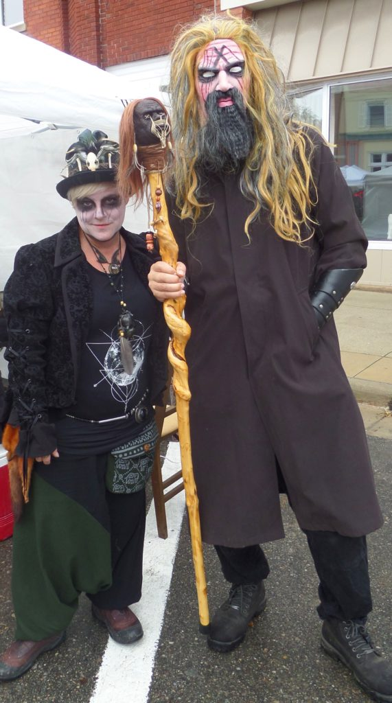 A contest for best costume encourages Armada-geddon attendees to get into the Halloween spirit. Lisa Bohm of New Baltimore and Brian Foxlee of Armada dress for the event every year. PHOTO/COLLEEN KOWALEWSKI