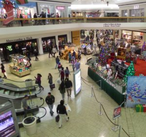Lakeside Mall became more crowded as the night went on, but shoppers who arrived early enjoyed relatively light crowds and shorter lines in the many small stores that were open all night. PHOTO/COLLEEN KOWALEWSKI